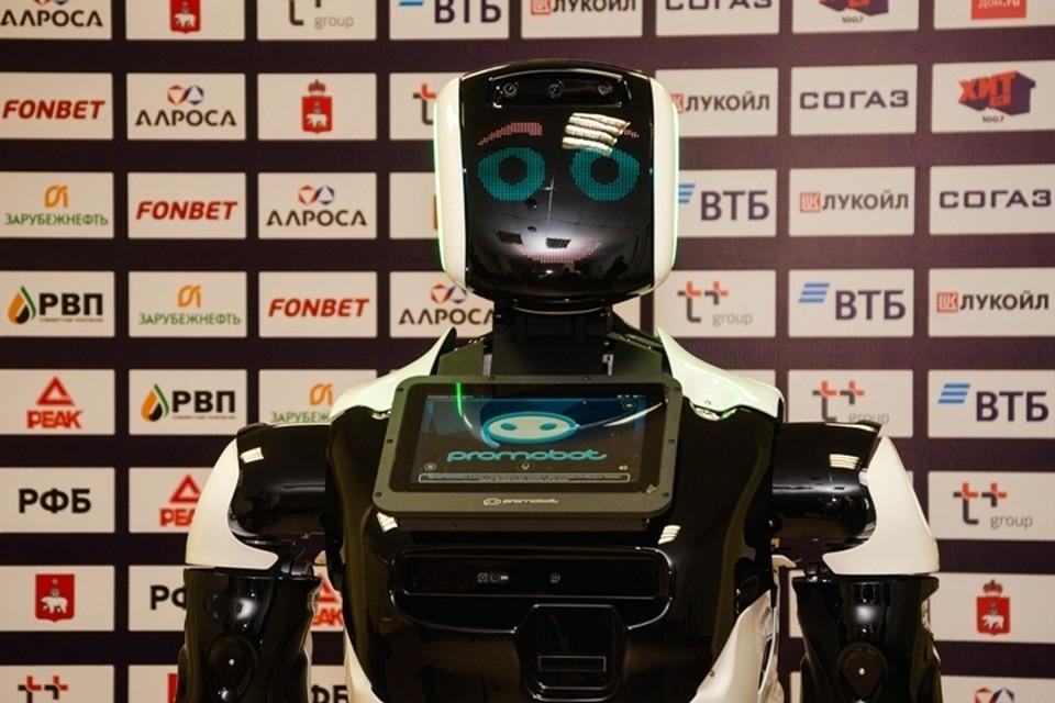 Имя роботу выберут болельщики с помощью голосования. Фото: предоставлено компанией Promobot.