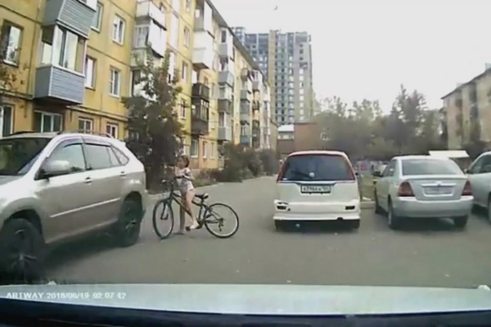 В Красноярске оправдали водителя «Лексуса». Стоп-кадр видео