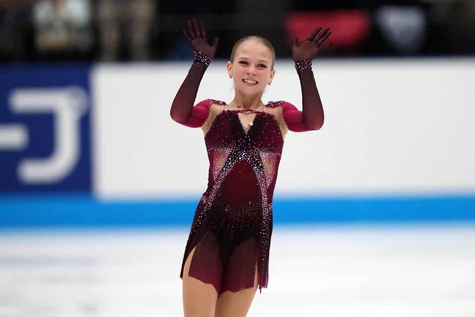 Александра Трусова ждет своего в произвольной программе.