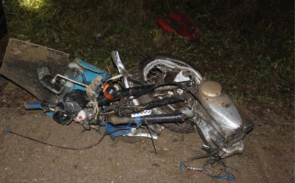 Все, что осталось от мотоцикла. Фото пресс-службы ГУ МВД по Пермскому краю
