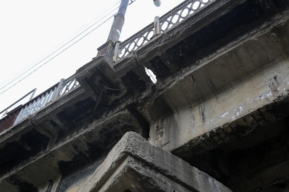 В таком состоянии сейчас находится мост