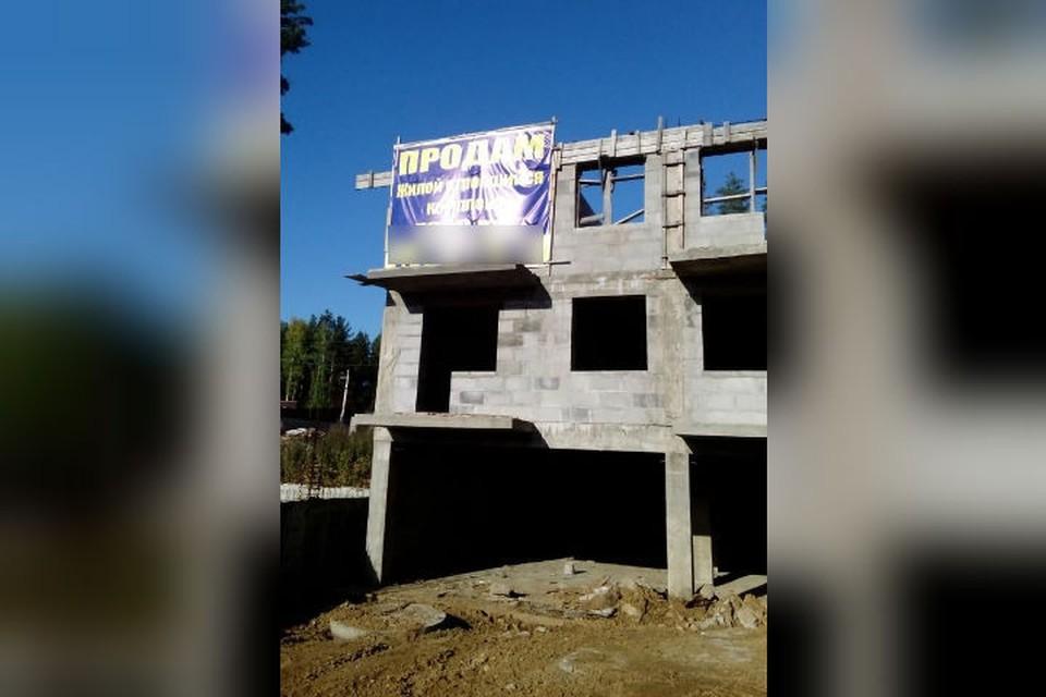 Здание так и стоит недостроенным. Фото: предоставлено Натальей ФАЛЕЕВОЙ.