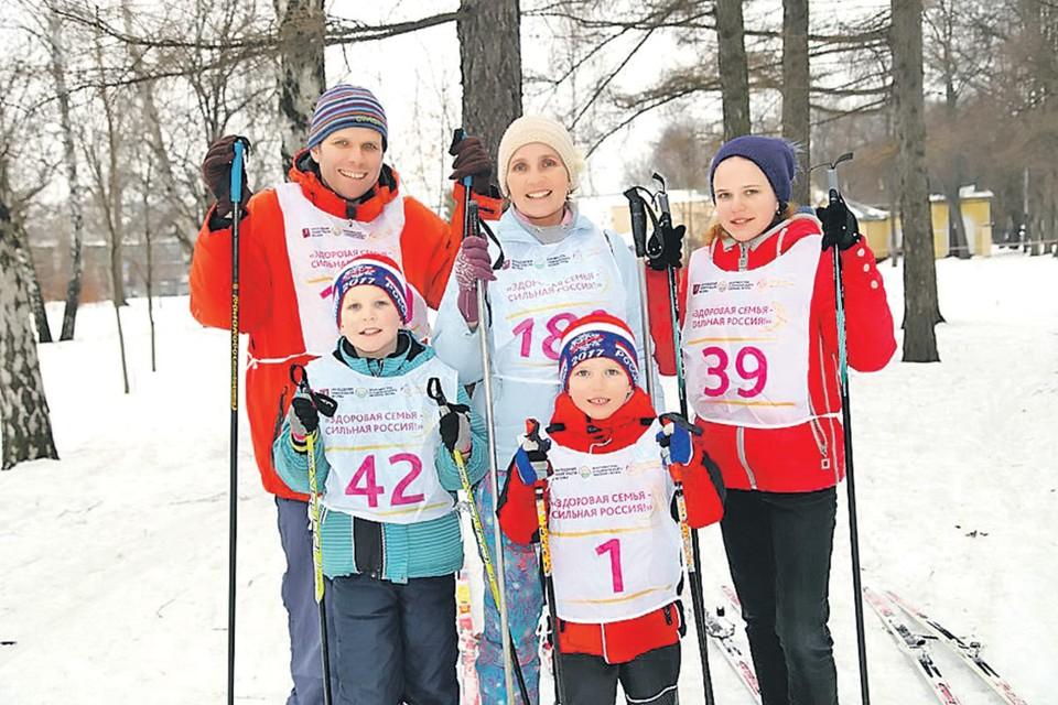 Наталья и Иван вместе с детьми стараются участвовать во всех городских спортивных соревнованиях. Фото: Семейный архив