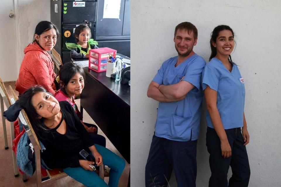 Идель вместе с коллегой помогали пациентам. Фото: личный архив.