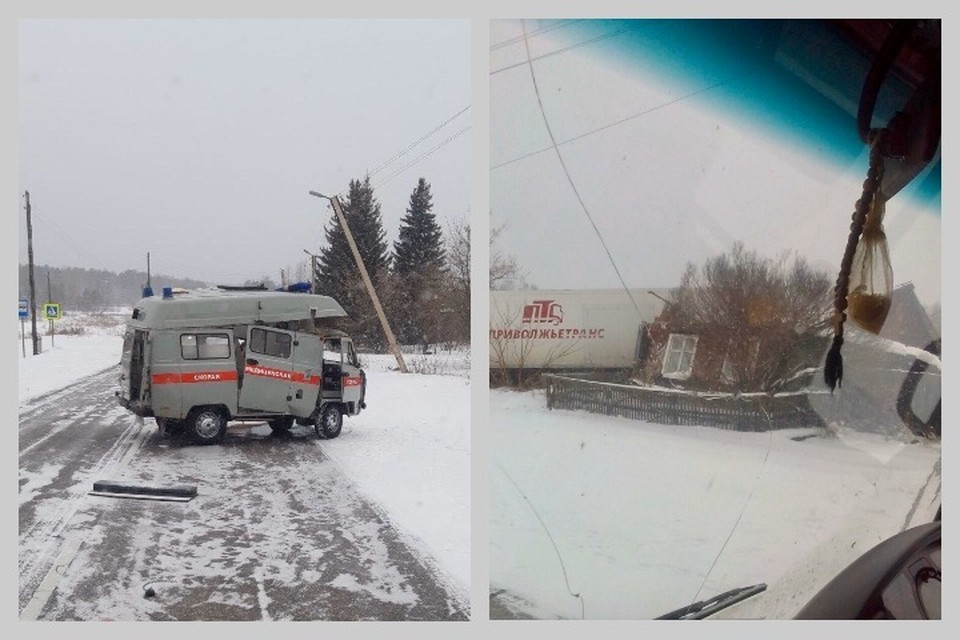 Фура врезалась в скорую помощь и раздавила частный дом в Красноярском крае: погиб человек. Фото, видео: ЧП - Канск.