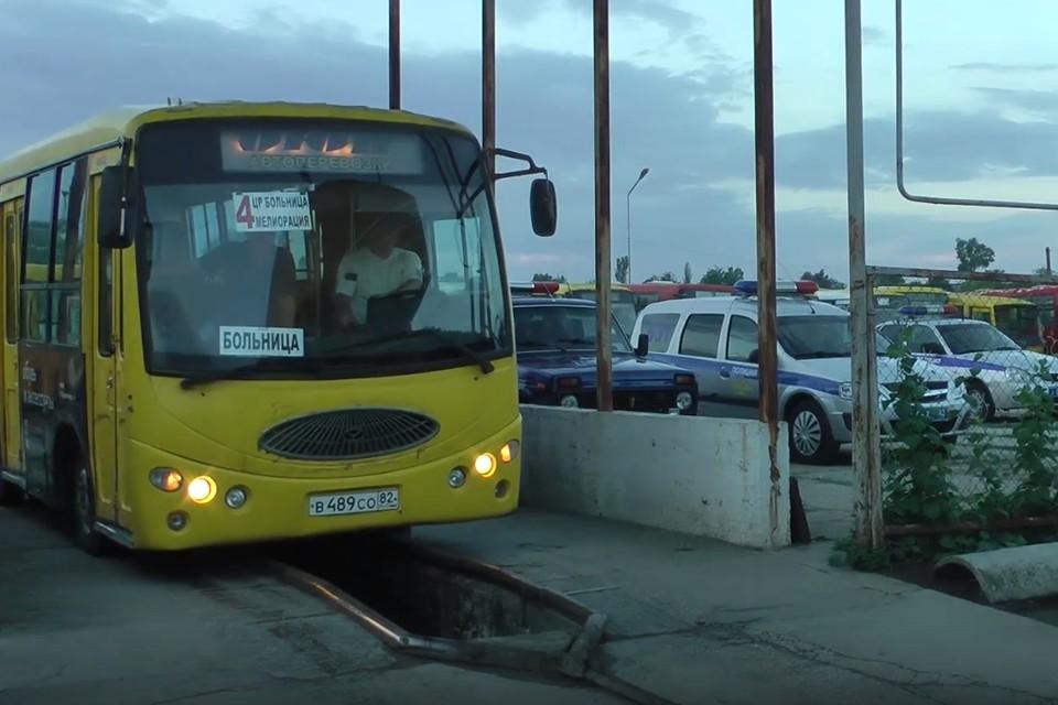 В Джанкое автобусы не вышли на маршруты. Фото: кадр видео