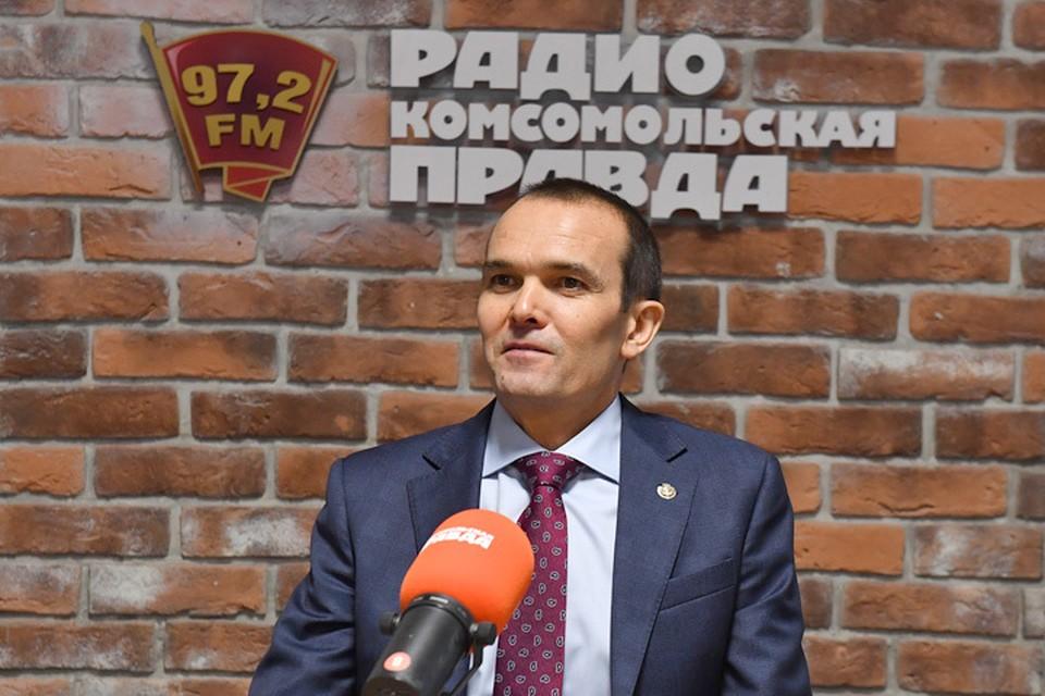 Глава Чувашии Михаил Игнатьев в гостях у Радио «Комсомольская правда».