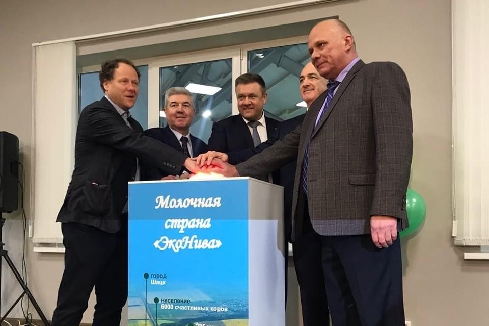 На торжественном открытии нового комплекса побывали губернатор региона Николай Любимов и президент российско-германской группы компаний «ЭкоНива» Штефан Дюрр.