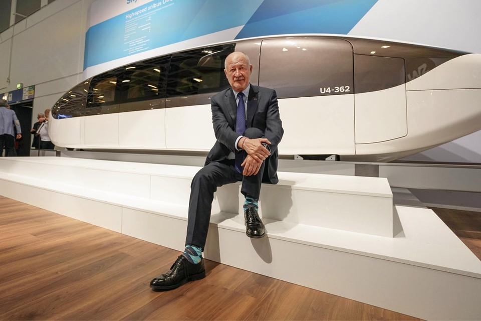 Анатолий Юницкий на международной выставке InnoTrans 2018 в Берлине.