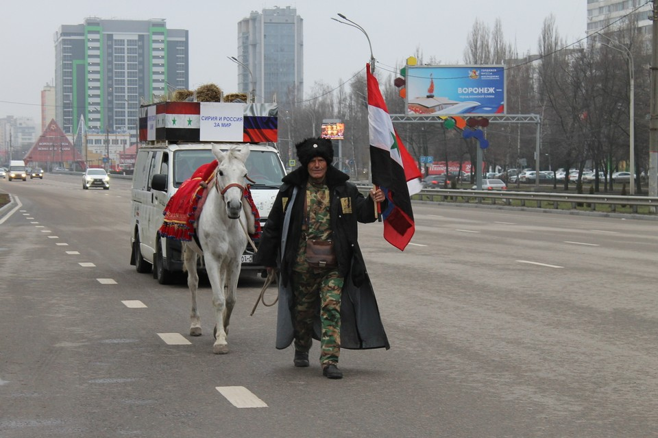 Путешественник прошел через Воронеж.