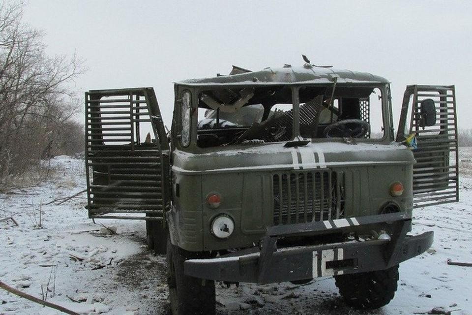 Грузовик с украинскими солдатами подорвался на минном поле. Фото: anna-news.info