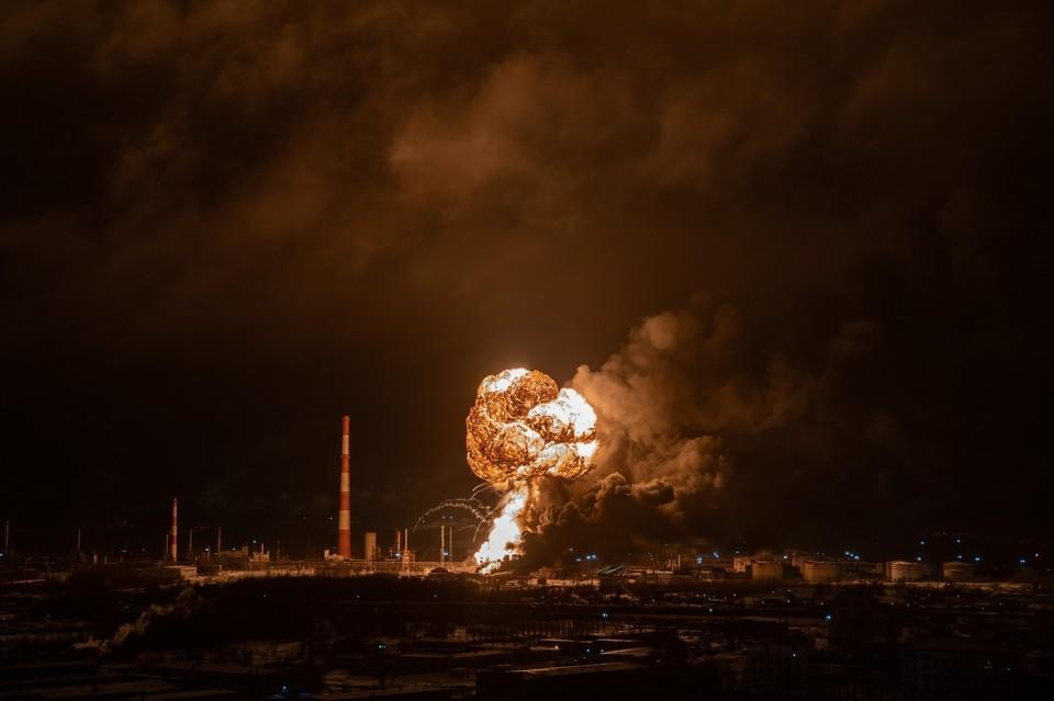 Как развивались события во время пожара в Ухте. Фото Евгения Гроха