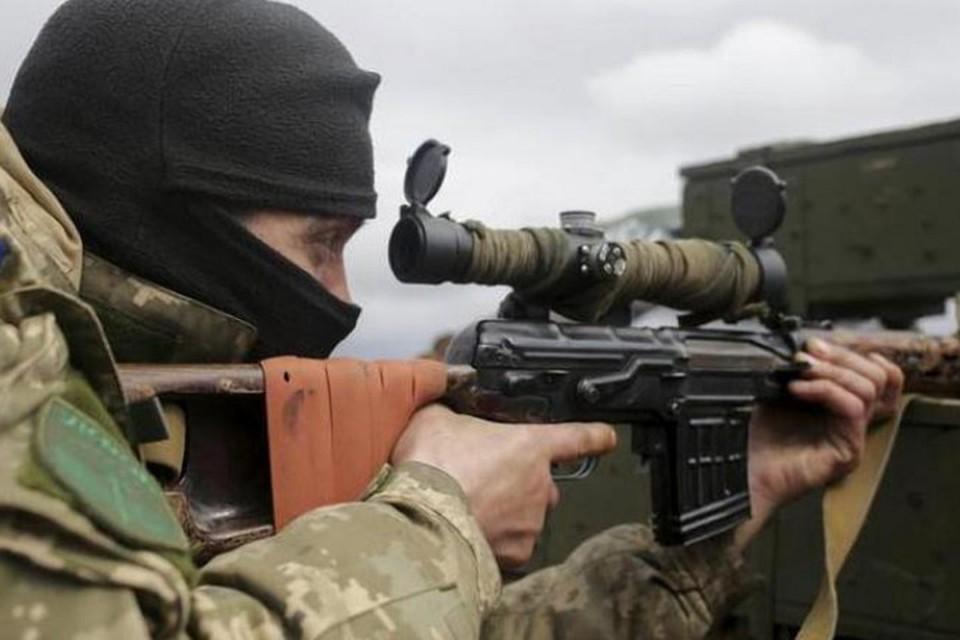 Украинское командование на место танков и гаубиц поставило снайперов. Фото: news-front.info