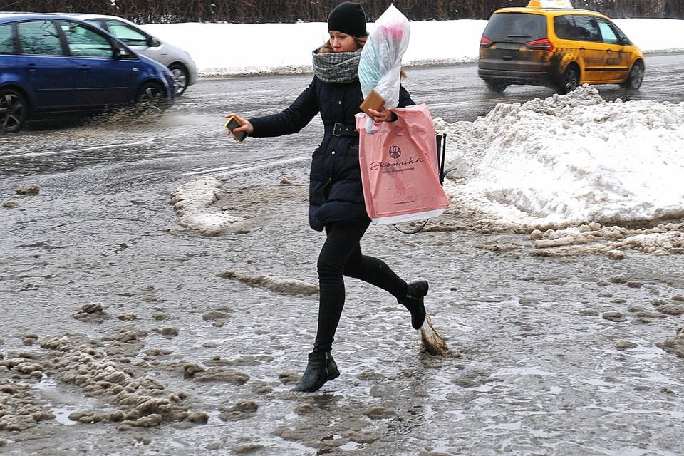Выпавший в Москве в выходные снег растает за несколько дней.