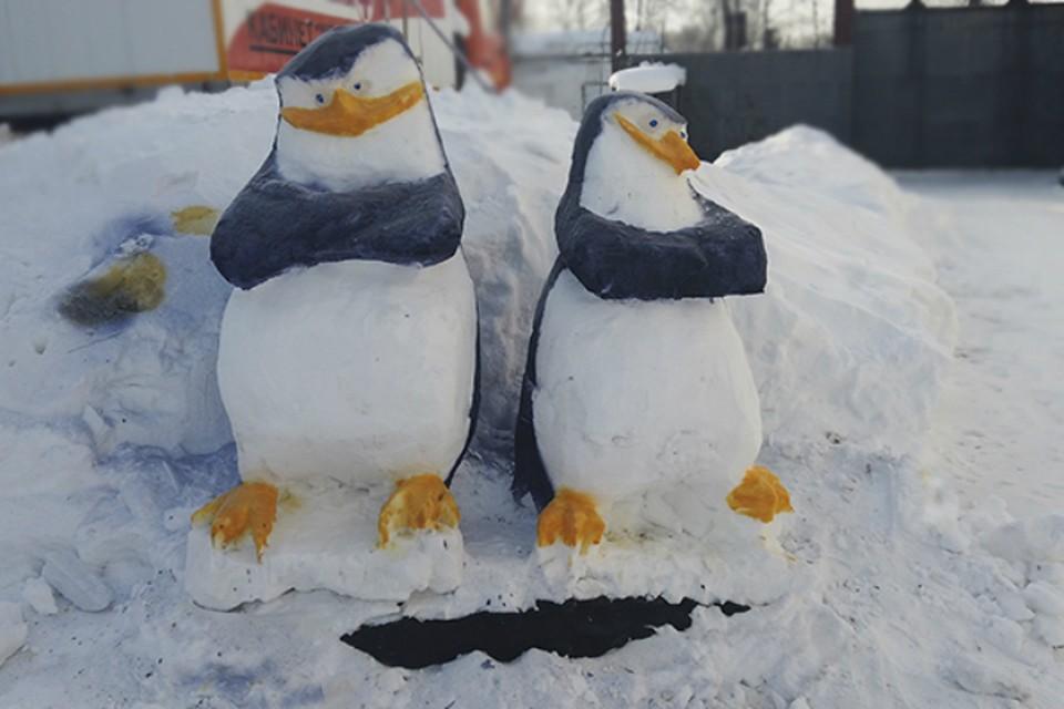 В Хабаровском крае выбрали лучшие снежные фигуры, созданные осужденными