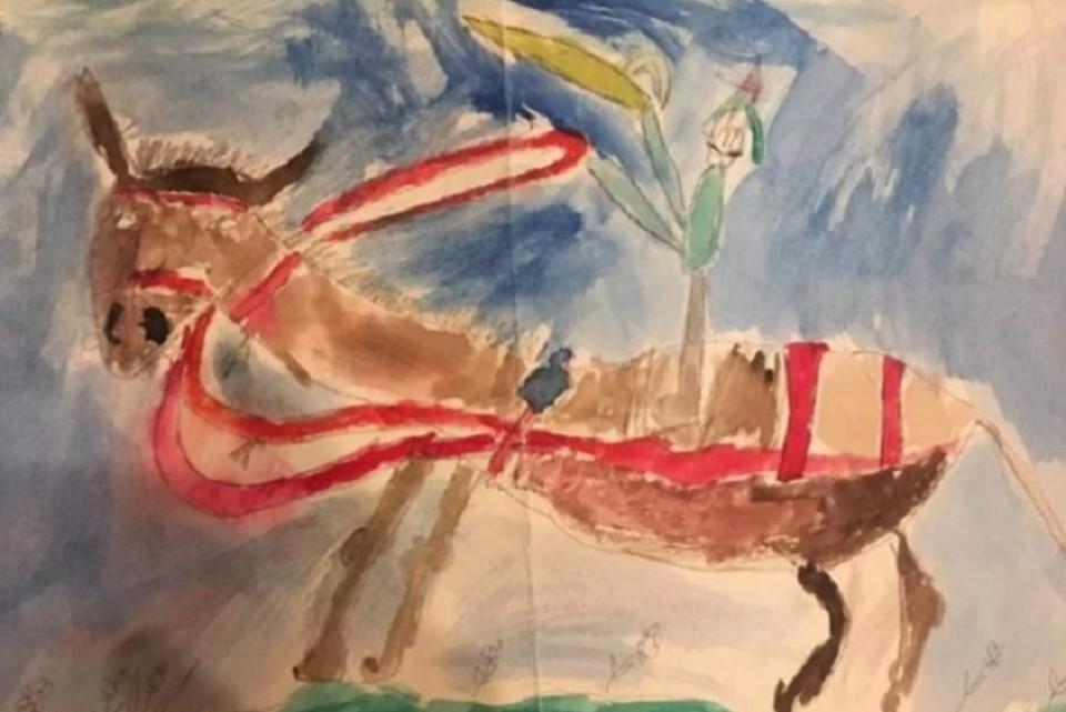 Москвич продает свой детский рисунок за 140 миллионов рублей