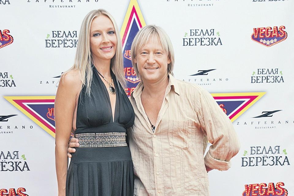 Артист с женой Мариной Майко.