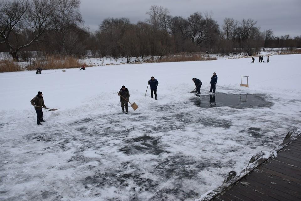 Толщина льда на Цне сейчас доходит до 24 сантиметров