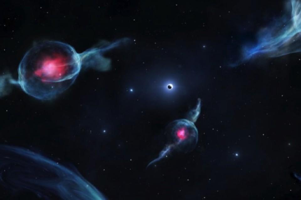 Странные призрачные объекты носятся вокруг черной дыры, расположенной в центре Млечного пути.