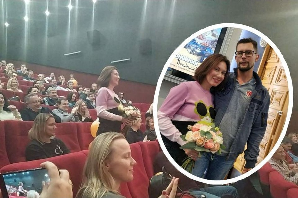 """Юля и Денис - из разных городов, познакомились они в Африке, а предложение о свадьбе прозвучало в новосибирском кинотеатре """"Победа""""."""