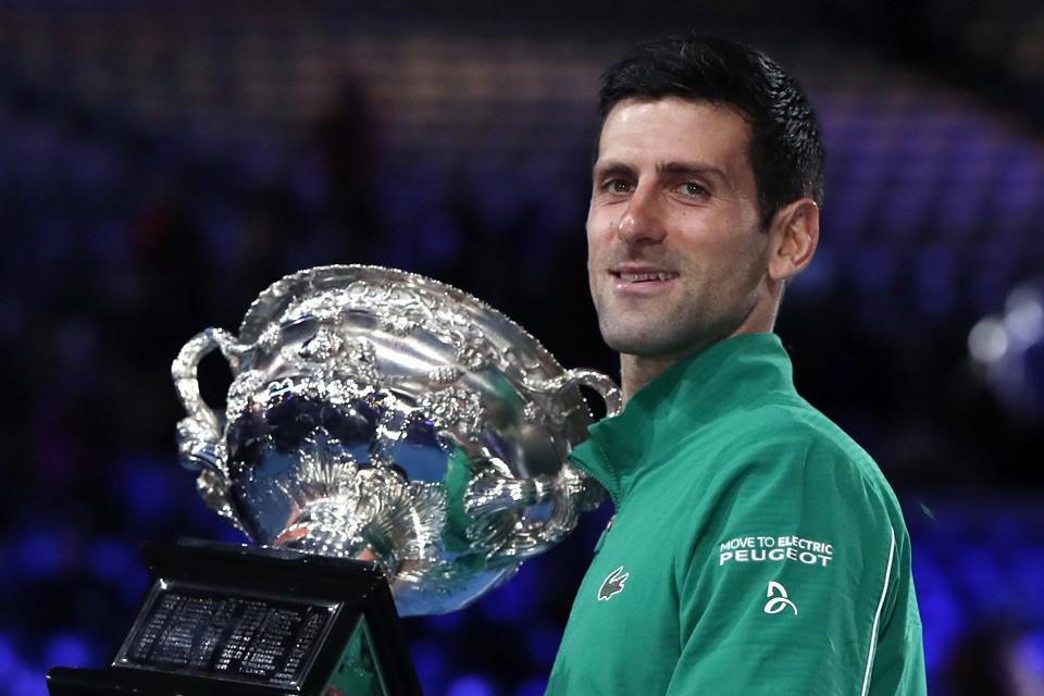 Серб Новак Джокович завоевал кубок Australian Open