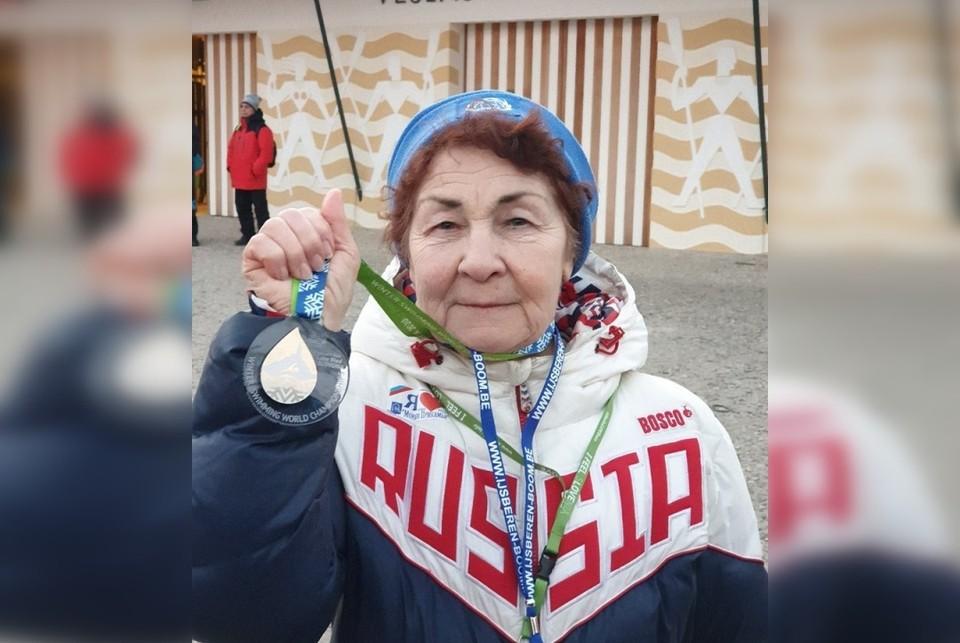 "Нина Максимова завоевала золотую медаль. Фото: клуб ""Тонус""."