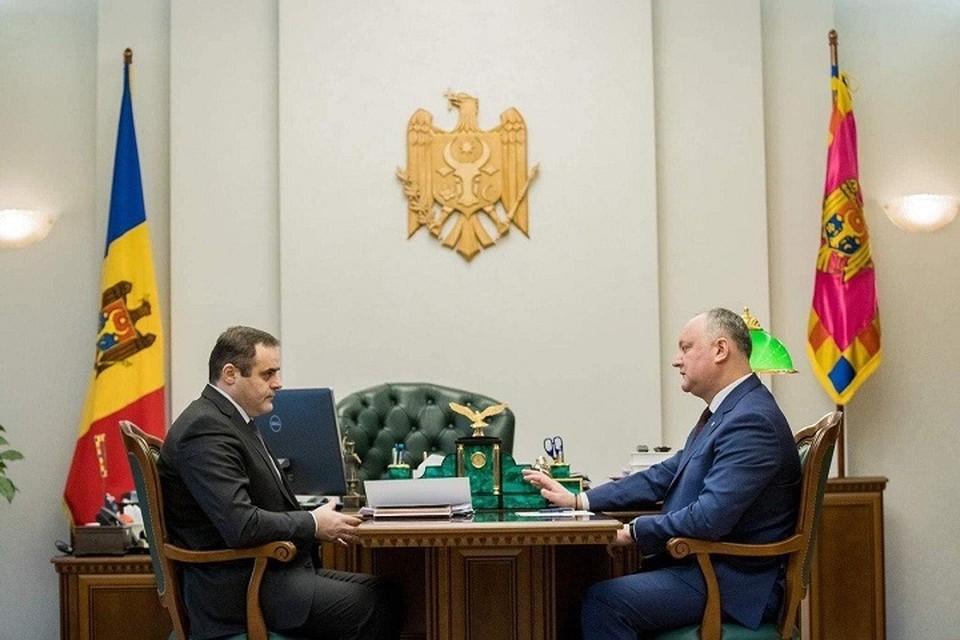 Игорь Додон и Вадим Чебан.