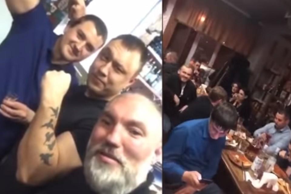 В Тюмени следователь отметил в ресторане повышение криками «Жизнь ворам!» и «АУЕ!». Фото: скриншот с видео