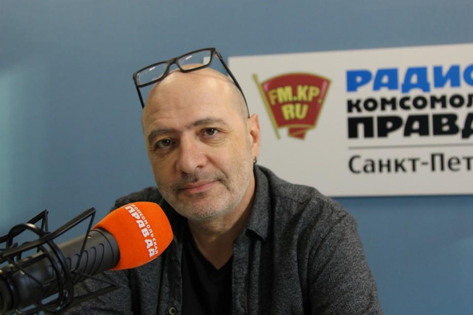 Дима Зицер в студии радио «Комсомольская правда в Петербурге», 92.0 FM