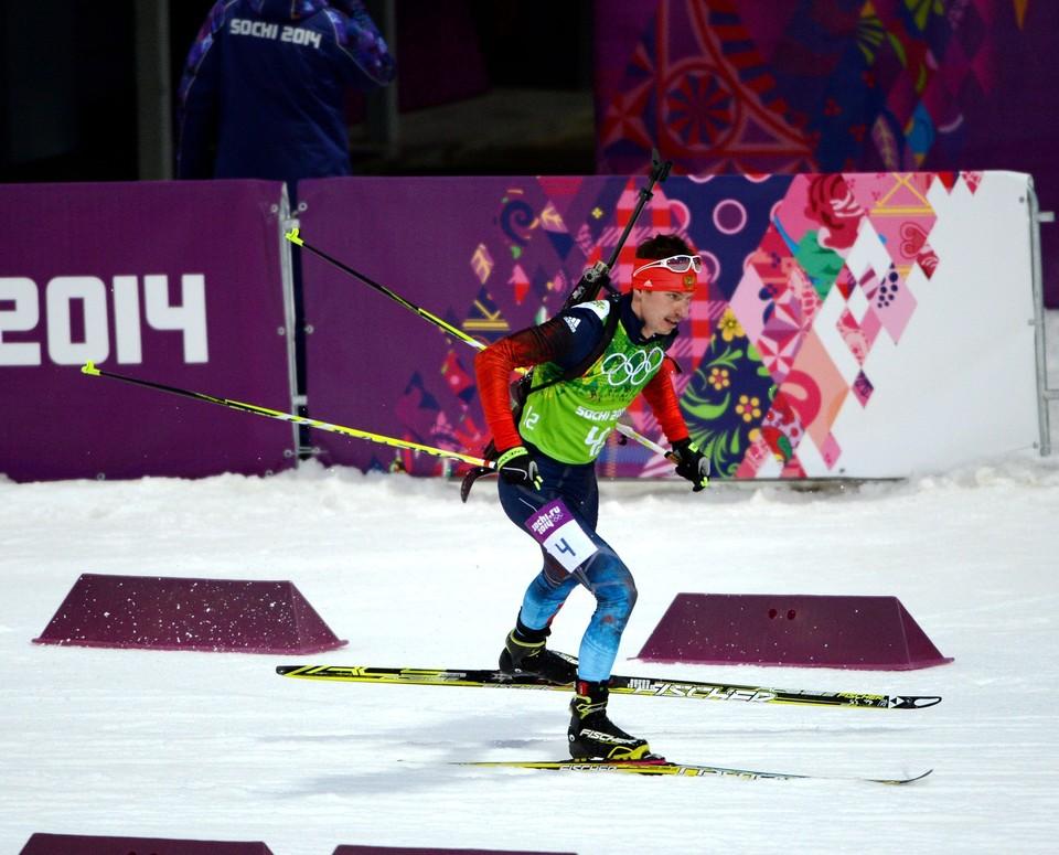Евгений Устюгов на олимпийской трассе в Сочи.