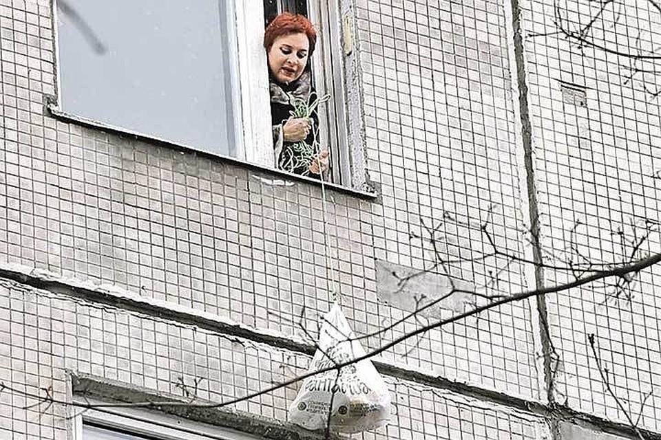 """Коллеги из """"Комсомолки"""" передали Дарье еду и средства дезинфекции в виде коньяка и виски"""