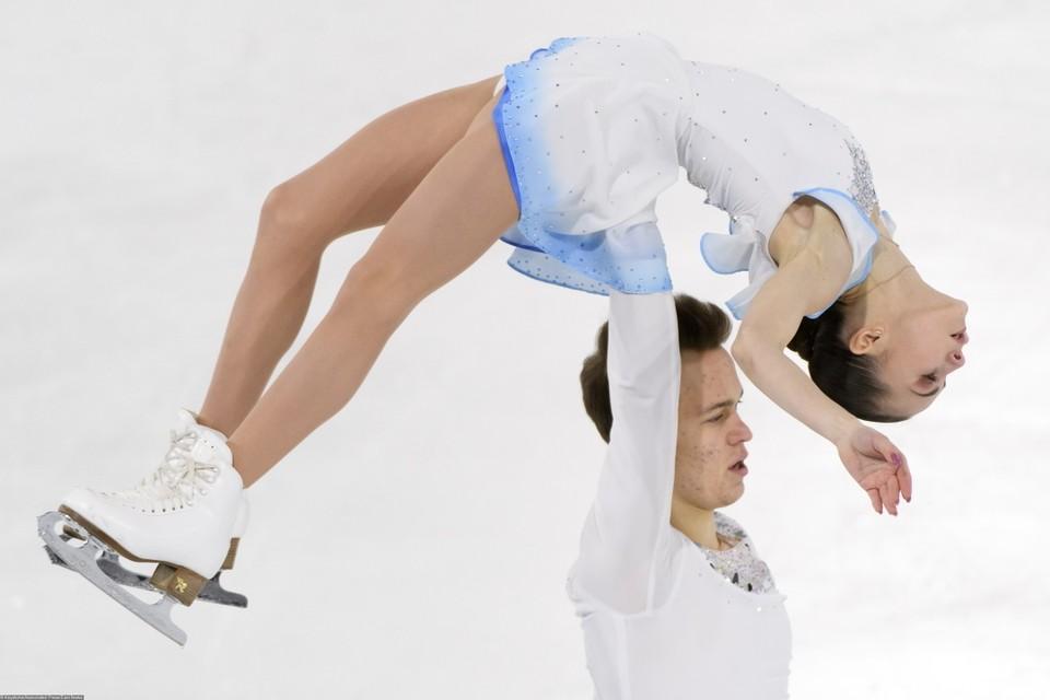 Аполлинария Панфилова и Дмитрий Рылов лидируют после короткой программы на чемпионате мира среди юниоров 2020 в Таллине