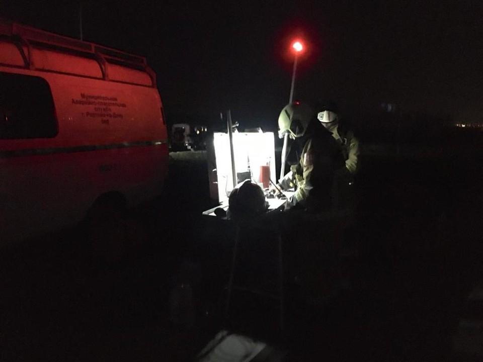 В Ростове-на-Дону шестой час тушат пожар на левом берегу Дона. Фото: ГУ МЧС Росси по РО.