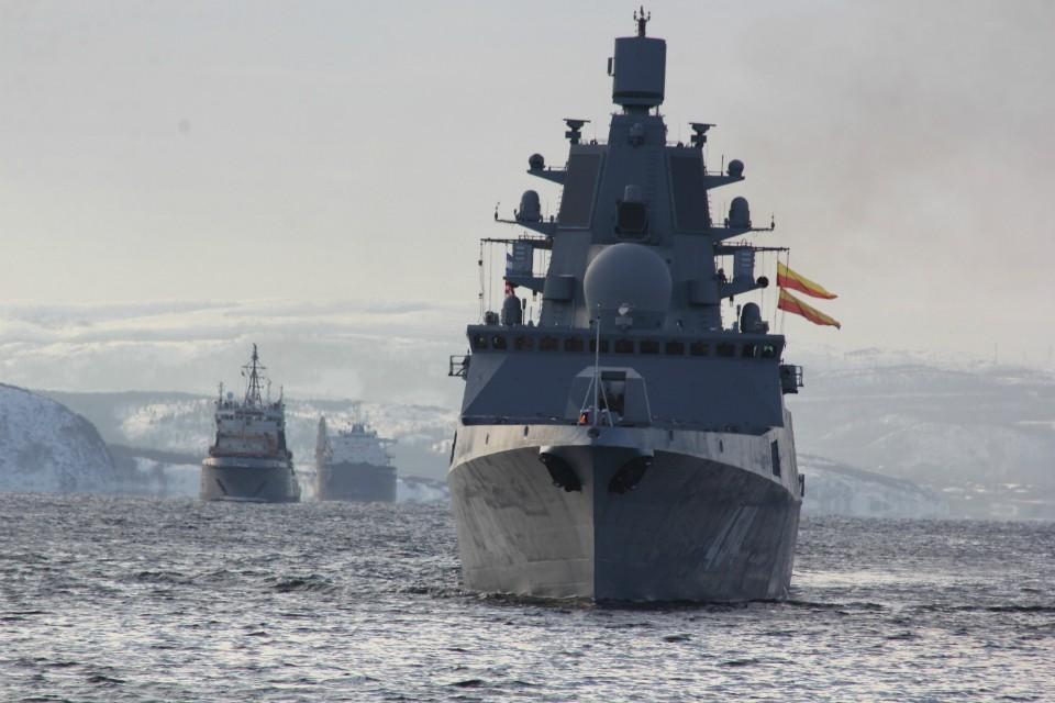 """""""Адмирал Горшков"""" вернулся из кругосветки, покорив новые вершины. Фото: пресс-служба Северного флота"""