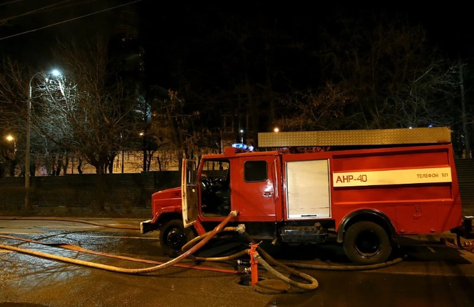 В Москве загорелся дом престарелых
