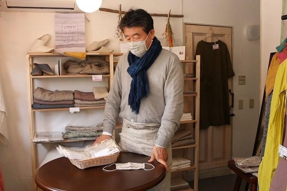 Маски из белорусского льна популярны в Японии. Фото: belta.by.
