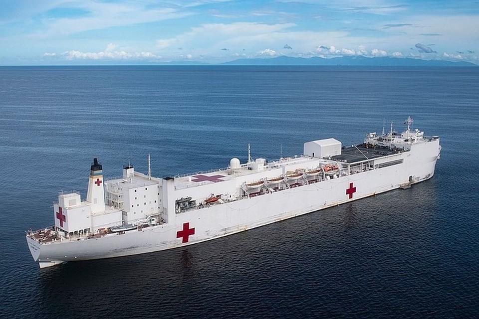 Плавучий госпиталь USNS Comfort. Фото: Nall Morgan/U.S. Navy