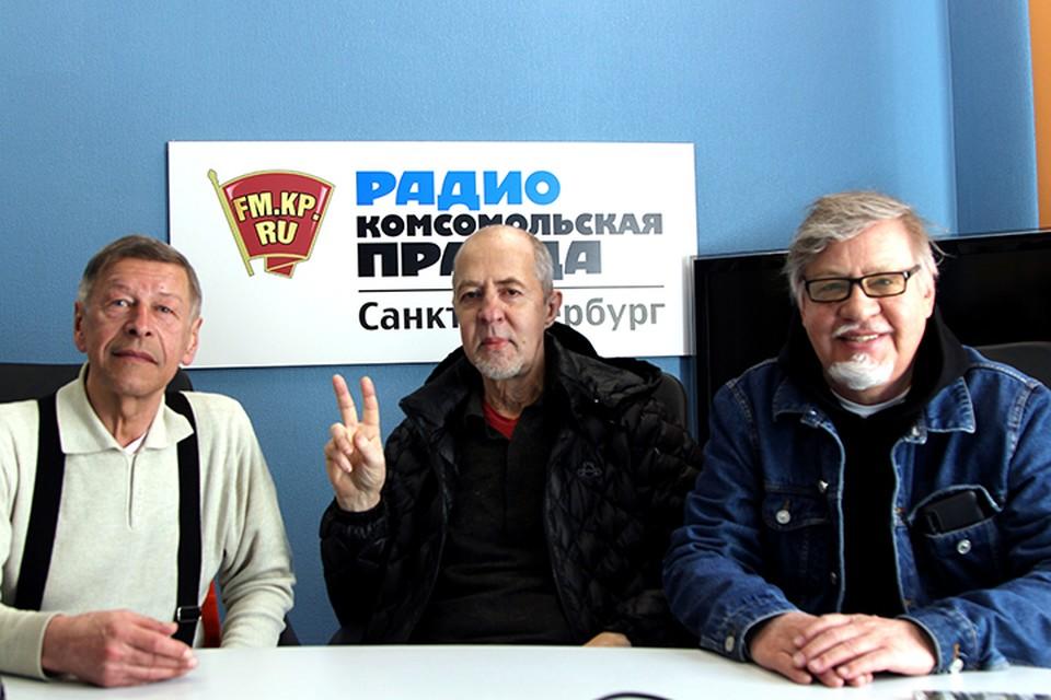 Александр Донских, Владимир Рекшан и Александр Семенов в студии радио «Комсомольская Правда в Петербурге» 92,0 FM
