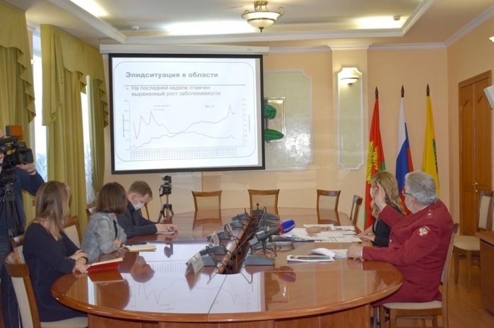 В Липецке обсудили рост заболеваемости коронавирусом