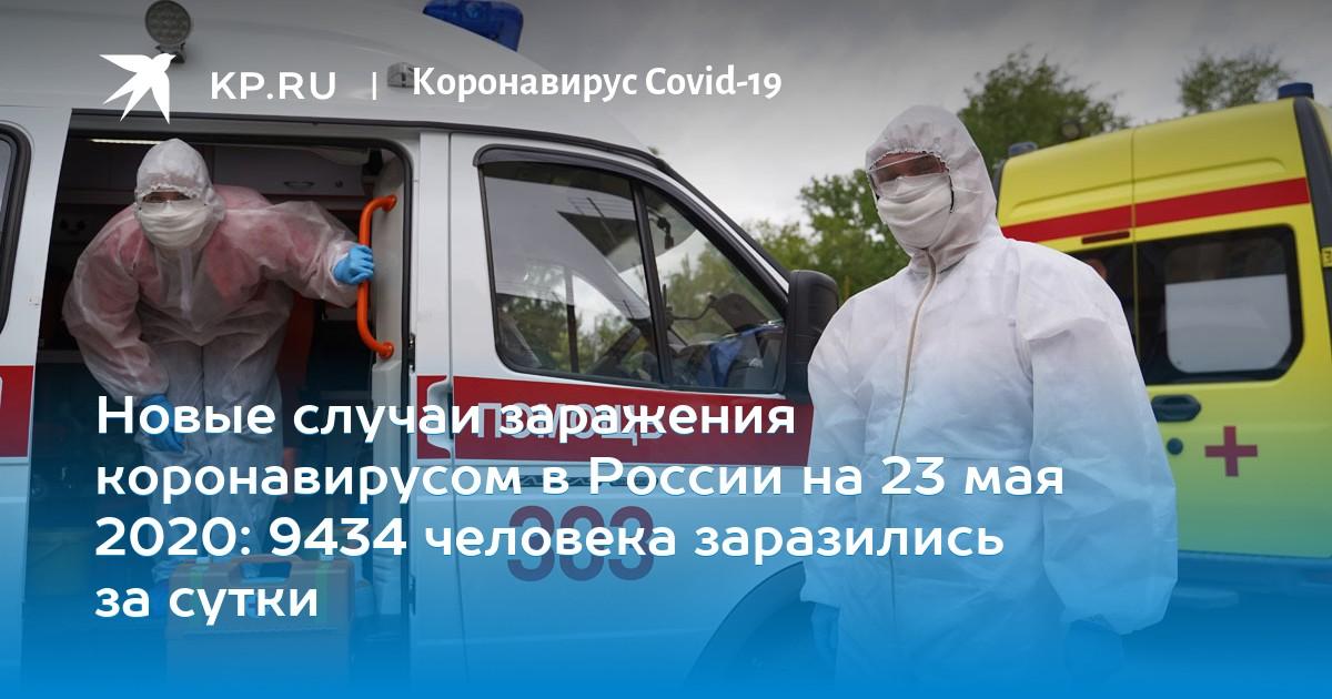 Новые случаи заражения коронавирусом в России на 23 мая 2020: 9434 человека заразились за сутки
