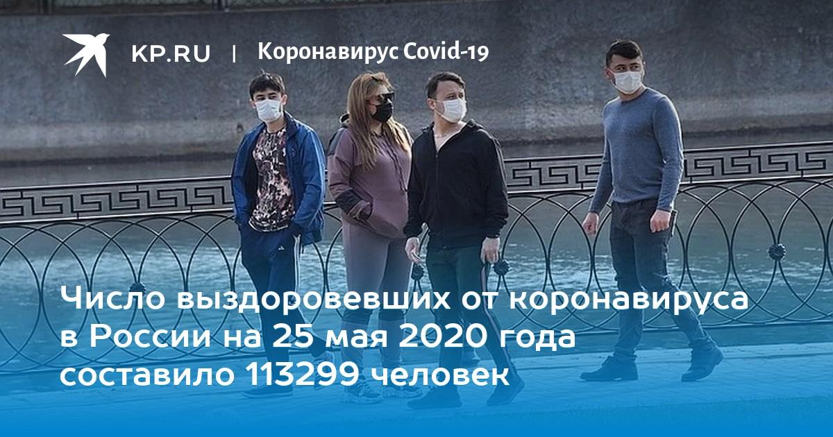 Число выздоровевших от коронавируса в России на 25 мая 2020 года составило 113299 человек