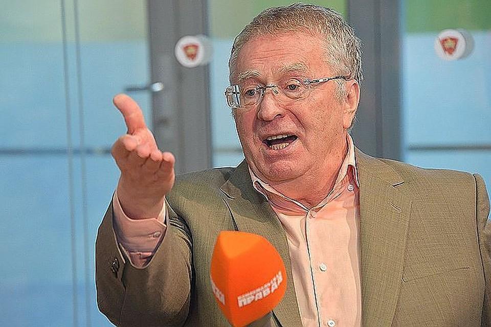 Лидер ЛДПР Владимир Жириновский в студии Радио «Комсомольская правда».