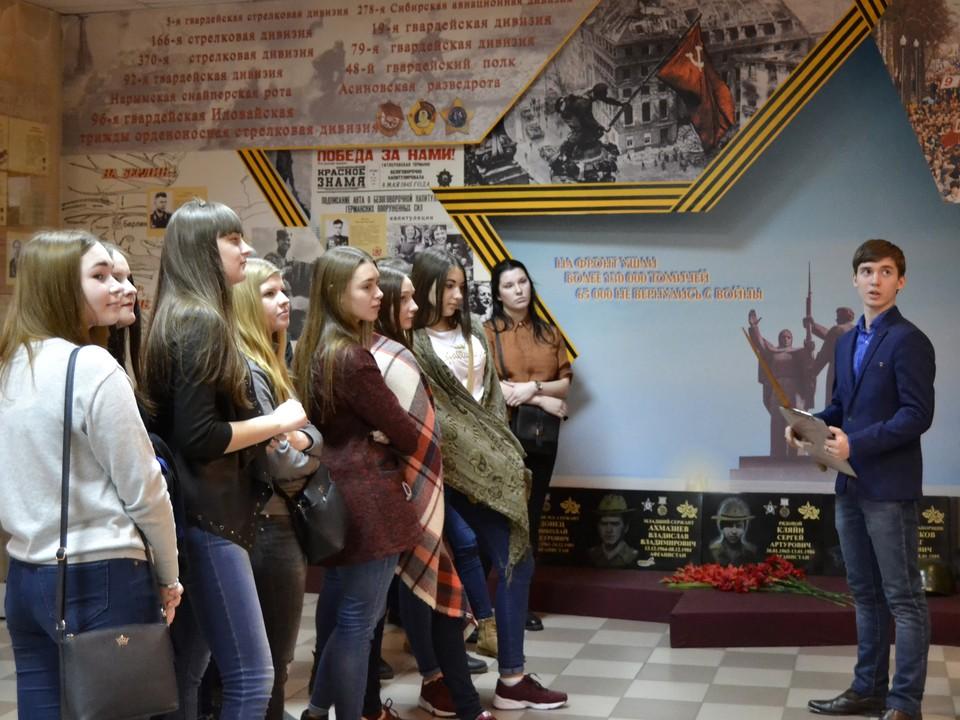 В техникуме активно ведется поисковая работа, проходят уроки мужества, обзорные экскурсии по музею
