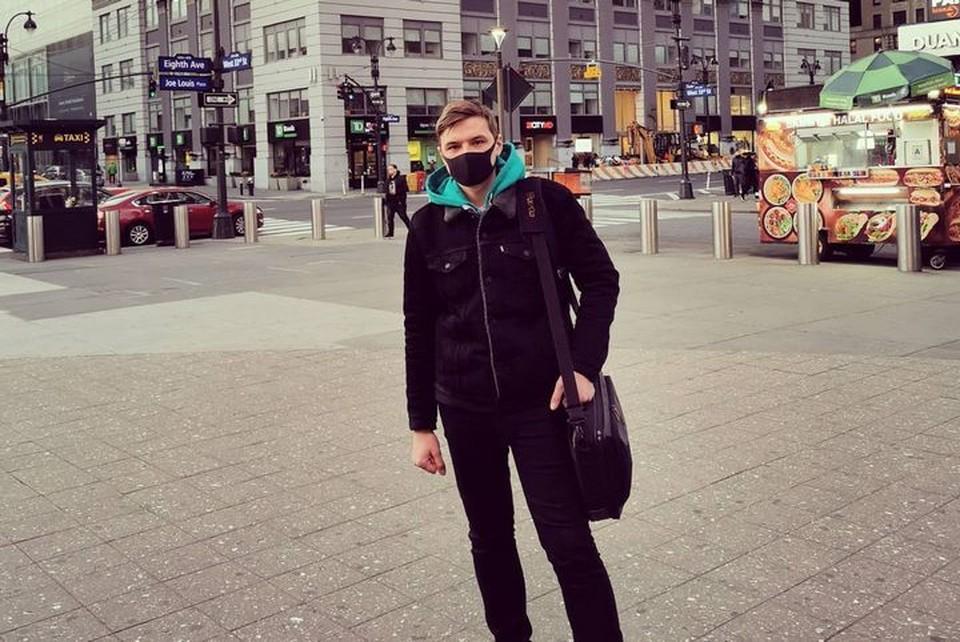 Олег Кивокурцев в Нью-Йорке. Фото: личный архив.
