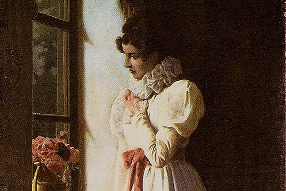 Татьяна Ларина, иллюстрация М. П. Клодта (1886).