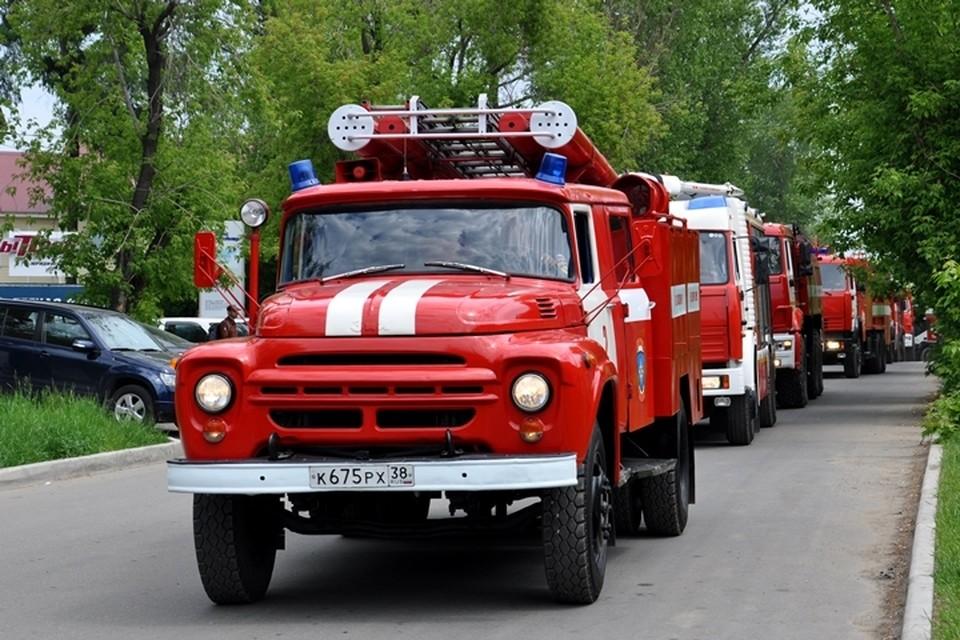 Автопробег пожарной техники пройдет по городу Иркутску 10 июня в День пожарной охраны.