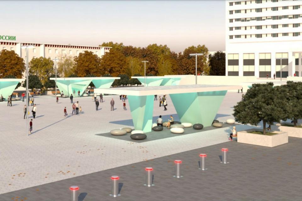 Рис. 1 Так выглядит проект реконструкции главной площади Мурманска. Фото: Центр городского развития МО