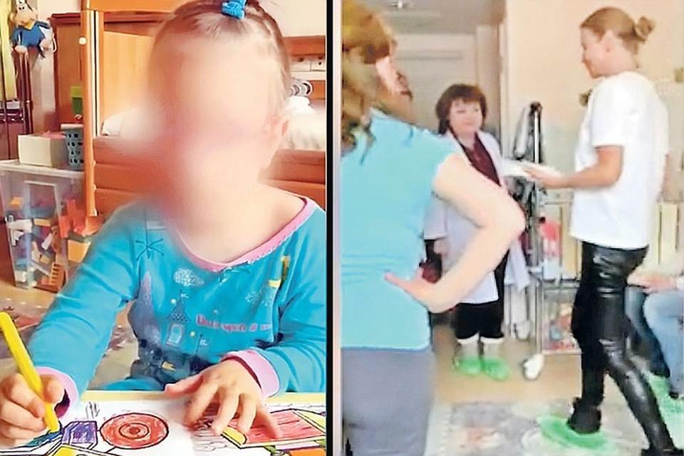 Врачи неоднократно пытались убедить мать девочки Татьяну (на фото справа) в том, что ее дочь Саша (слева) абсолютно здорова.