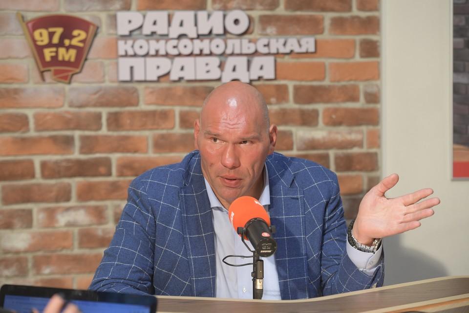 Николай Валуев в студии Радио «Комсомольская правда».
