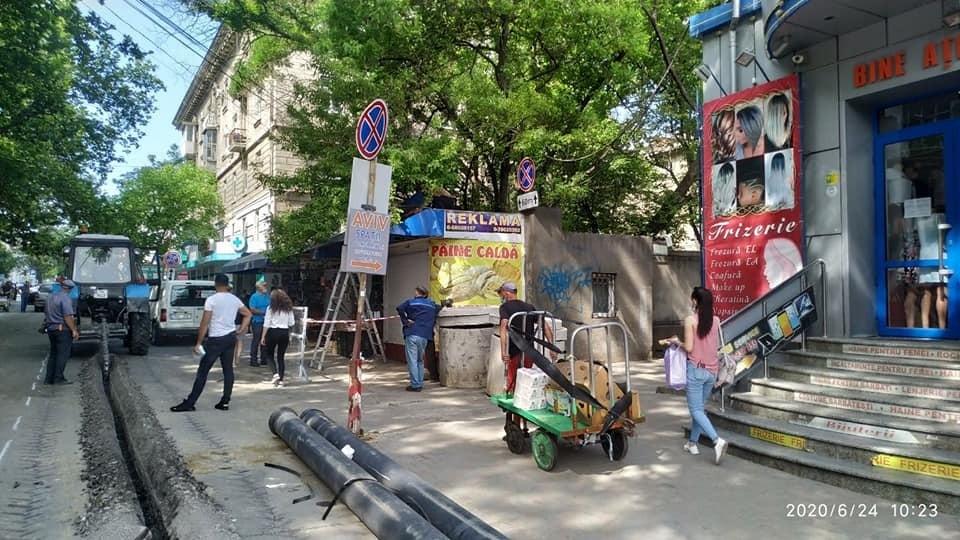 Киоски по улице Тигина продолжат сносить